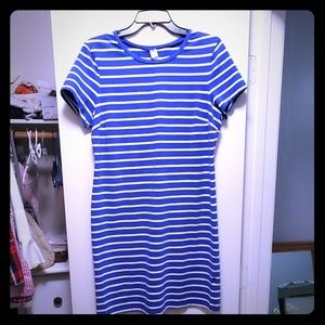 Old Navy Blue & White Striped Dress